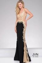 Jovani Sheer Lace Applique Prom Dress JVN33488