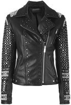 Amen embellished jacket - women - Cotton/Leather/Acetate/Cupro - 42