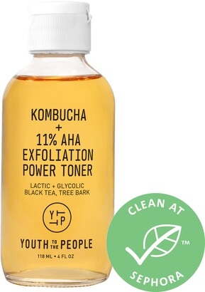 YOUTH TO THE PEOPLE Kombucha + 11% AHA Exfoliation Toner with Lactic Acid