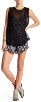 Free People Pretty Baby Printed Twofer Shirt and Romper