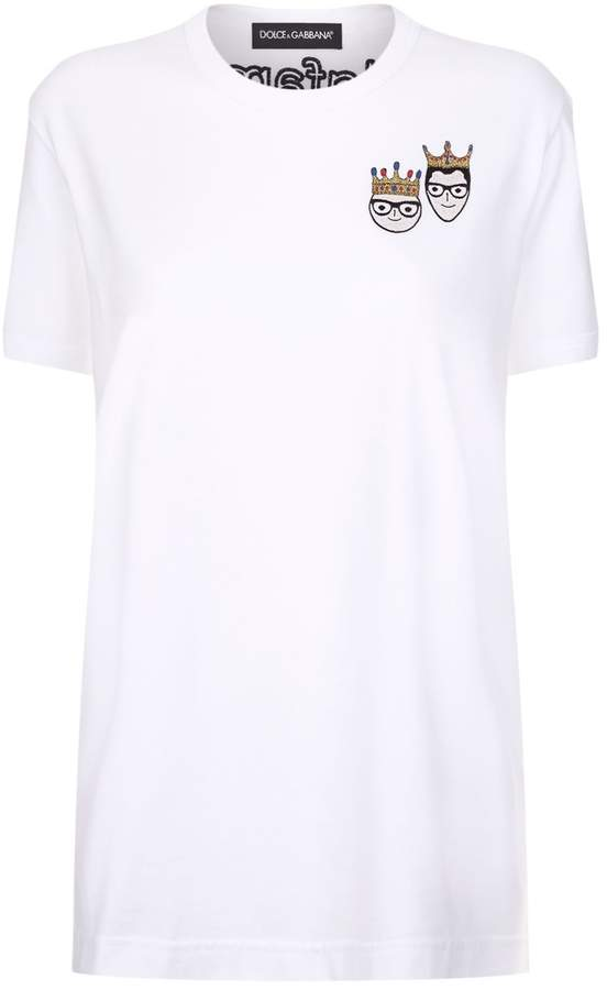 Dolce & Gabbana Embroidered #DGFamily T-Shirt