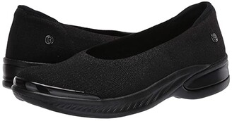 Bzees Nutmeg (Black Metallic Knit) Women's Shoes