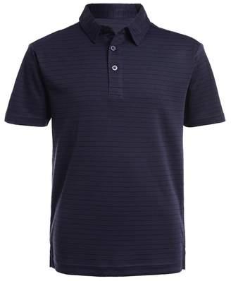Nautica Short Sleeve Interlock Stripe Print Polo Uniform Shirt (Big Boys)