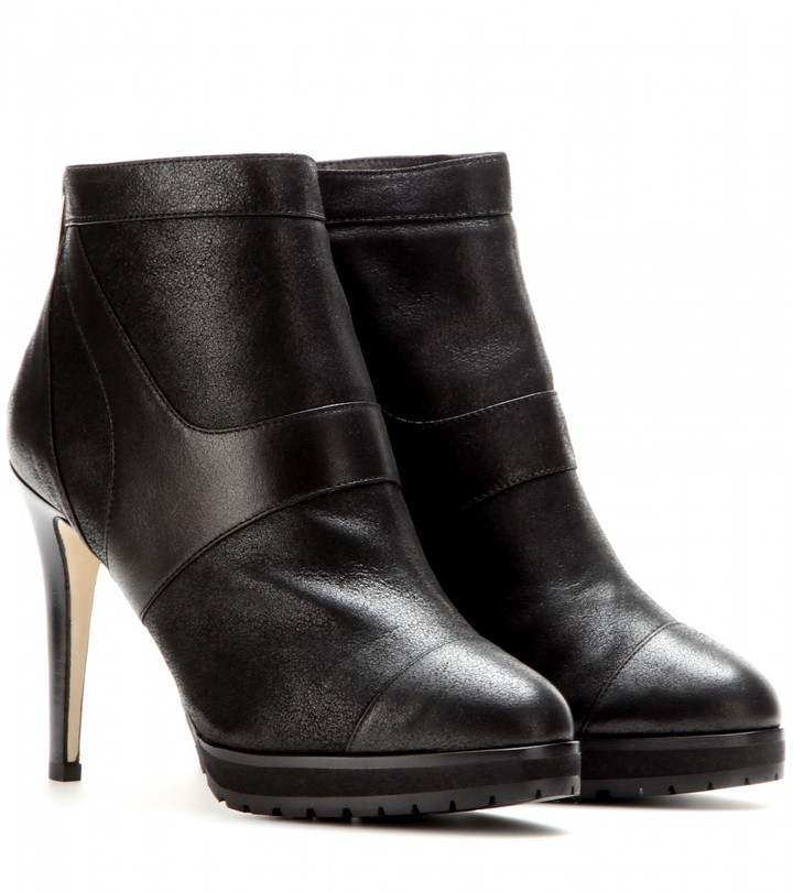 Jimmy Choo Druce leather platform ankle boots