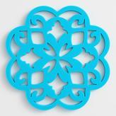Blue Medallion Silicone Trivet