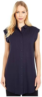 Eileen Fisher Classic Collar Tunic (Ink) Women's Clothing
