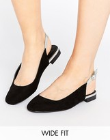 Asos LOWRI Wide Fit Sling Back Ballet Flats