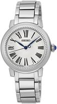 Seiko White Dial Quartz Stainless Steel Bracelet Ladies Watch