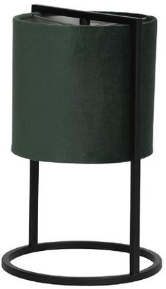 Light & Living Contemporary Table Lamp With Green Velvet Shade