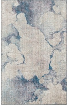 """Bridgeport Home Prizem Shag Prz4 Blue Gray 3' 3"""" x 5' 3"""" Area Rug"""