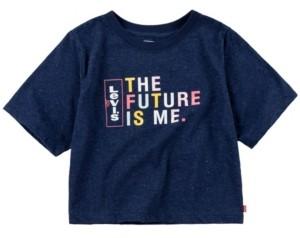Levi's Big Girls Nep Jersey Cropped T-Shirt