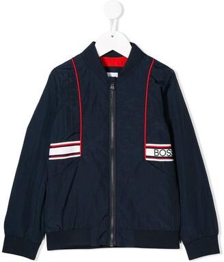 Boss Kids Zipped Bomber Jacket