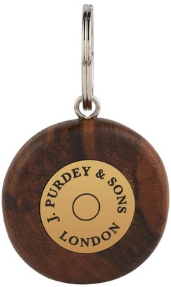 JAMES PURDEY & SONS Walnut Round Logo Keyring