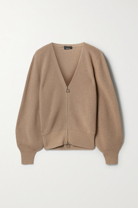 Akris Ribbed Cashmere Cardigan - Sand