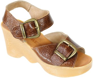 Famolare Hi There Leather Wedge Sandal - DoubleVision