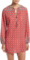 Nanette Lepore Pretty Tough Lace-Up Tunic Coverup