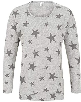 Tribal Long Sleeve Tunic with Slits (Grey Star) Women's Sweater