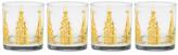Culver 22K Gold Joyous Tree Glasses - Set of 4