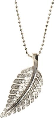 Jennifer Meyer Diamond Small Leaf Pendant Necklace