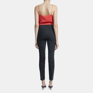 Theory Skinny Legging in Stretch Suede