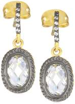 "Freida Rothman MERCER"" Two Tone Plated Raindrop Earrings"