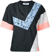 MSGM colour block top - women - Polyamide/Polyester - 42