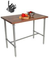 John Boos WAL-CUCKNB424-40 Walnut Cucina Americana Classico 48 x 24 x 40 Table and Henckels 13-piece Knife Block Set
