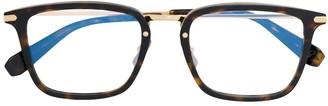 Brioni Rectangle Frame Tortoiseshell Glasses