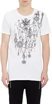 Balmain Men's Chain- & Medallion-Print T-Shirt-WHITE