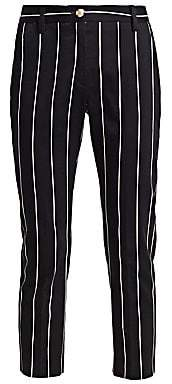 Derek Lam 10 Crosby Women's Striped Cropped Pants - Size 0
