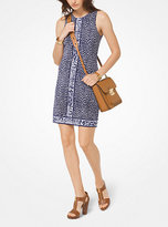 Michael Kors Leopard Matte-Jersey Shift Dress