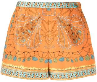 Emilio Pucci Abstract Print Silk Shorts