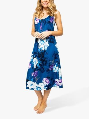 Cyberjammies Eliza Floral Print Nightdress, Blue/Multi
