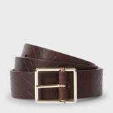 Paul Smith No.9 Men's Brown Leather Belt