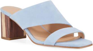 Charles David Chello Asymmetric Suede Slide Sandals