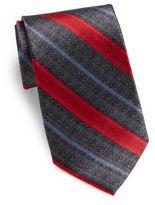 Burma Bibas Stripe-Print Silk Tie