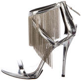 Brian Atwood Patent Leather Fringe Sandals