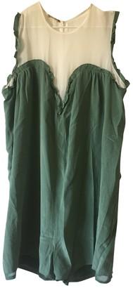 Bel Air Green Silk Jumpsuit for Women