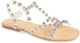 Jeffrey Campbell Amaryl Studded Clear Sandal