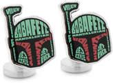 Star Wars STARWARS Boba Fett Typography Cuff Links