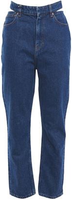 IRO Touro Cutout High-rise Straight-leg Jeans