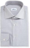 Brioni Check Dress Shirt, Tan