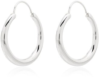 All Blues Hungry Snake polished sterling silver earrings