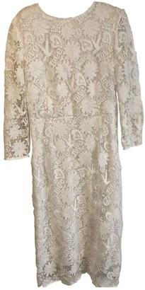 Sandro Spring Summer 2018 White Lace Dresses
