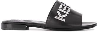 Kenzo Leather Logo Sandals
