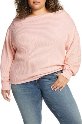 Gibson Marilyn Off the Shoulder Sweater (Plus Size)