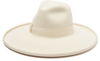 Gucci Grosgrain-trim Felt Fedora - Mens - White