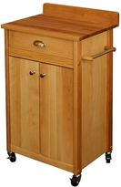 Catskill Craft Butcher Block Top Kitchen Cart