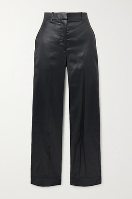 3.1 Phillip Lim Hammered-satin Straight-leg Pants - Black