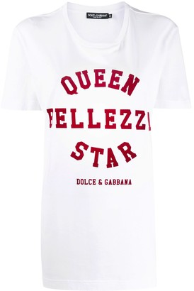 Dolce & Gabbana 'queen bellezza star' print T-shirt